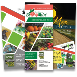 Greenhouse, Art, and Harvest Moon Tour Brochures